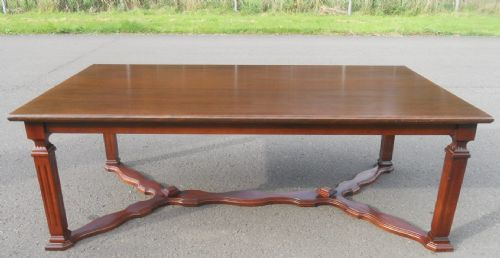 Large Mahogany Rectangular Coffee Table